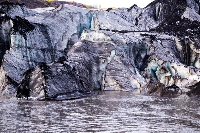 Glacier in Vatnajokull National Park,  Iceland