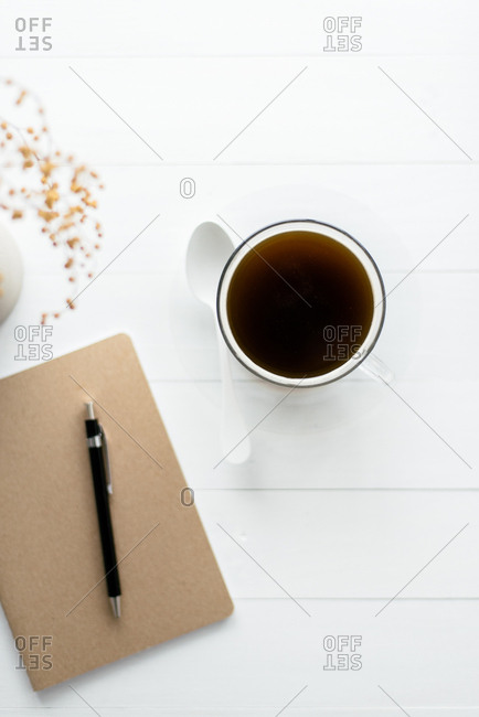 Minimal coffee on table