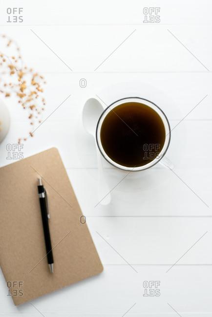 Minimal coffee on table