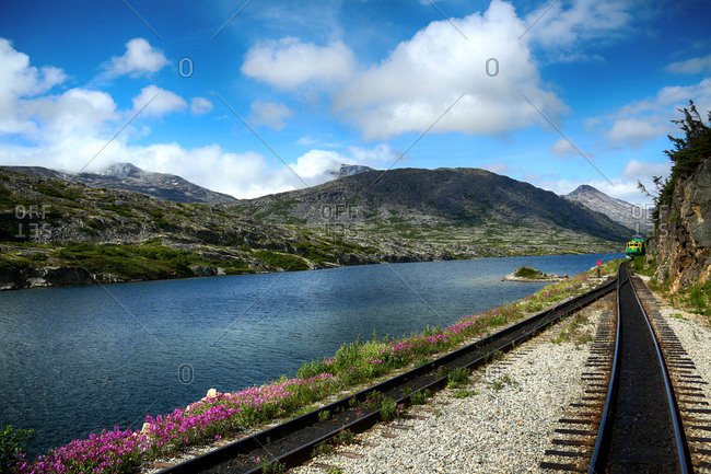 Railway track by the water