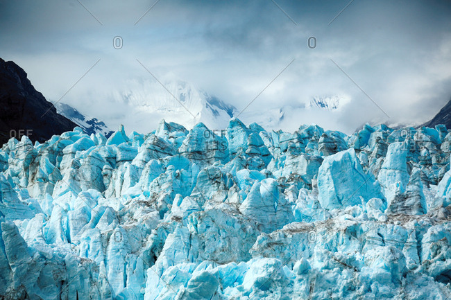 Alaskan glaciers close up