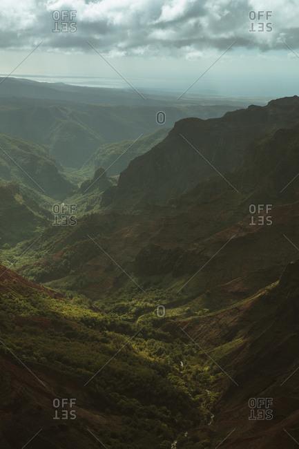Hanapepe Valley canyons in Hawaii