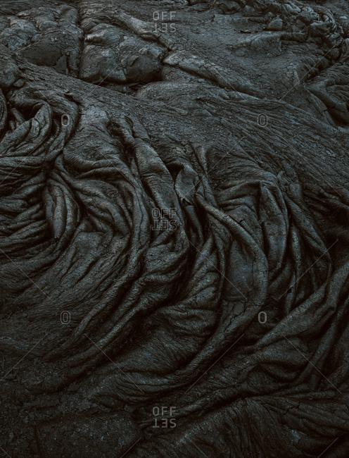 Texture of volcanic rock