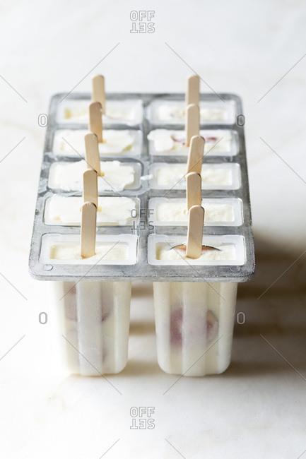 Yogurt Fruit Popsicles