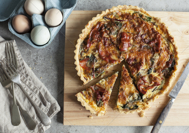 Proscuitto and Swiss Chard Tart