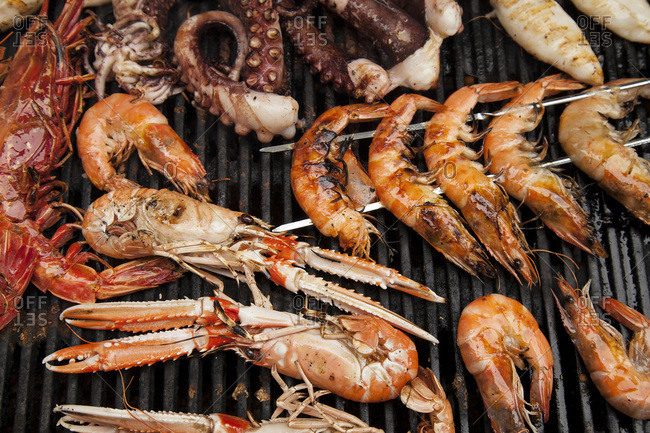 Seafood on a BBQ - Offset