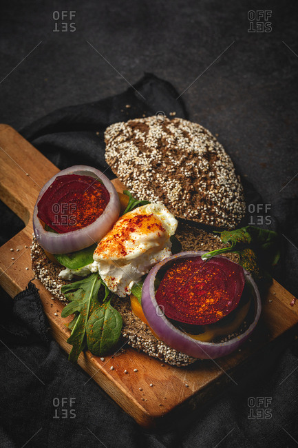 Healthy homemade vegetable sandwich food
