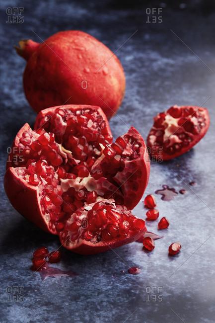 Opened Pomegranate Still Life