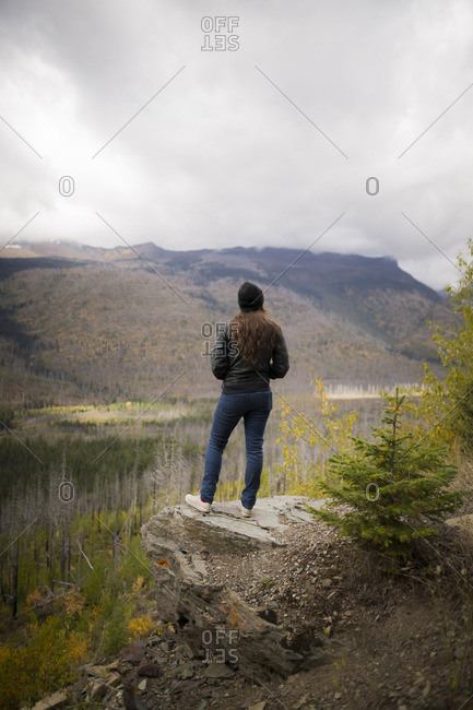A woman admiring the view at Glacier National Park, Montana