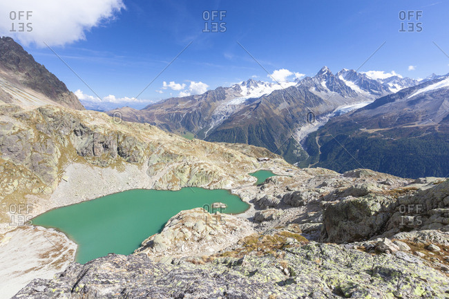 Lac Blanc during summer, Chamonix, France