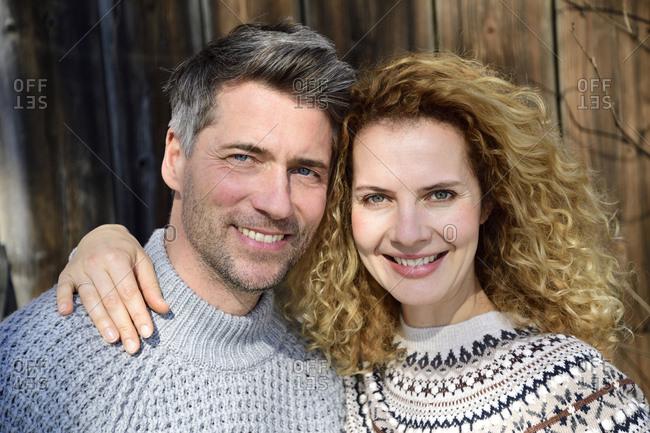 Germany- Bavaria- portrait of happy couple
