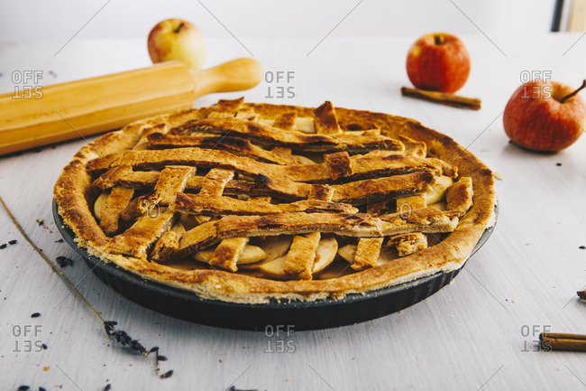 Home-baked apple pie