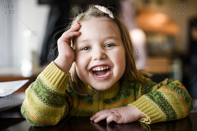 Portrait of laughing girl