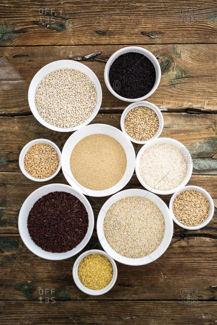 Cereal mix: black rice- red rice- barley- amaranth- quinoa- rice- bulgur- spelt- oats and buckwheat