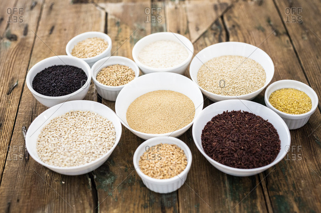Cereal mix: black rice- red rice- barley- amaranth- quinoa- rice- bulgur- oats and buckwheat