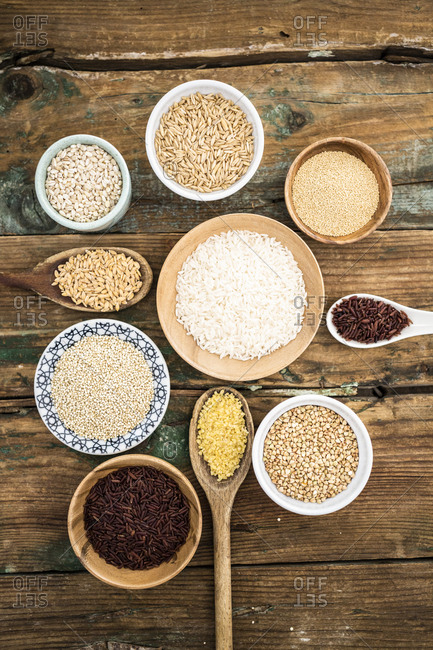 Cereal mix: red rice- barley- amaranth- quinoa- rice- bulgur- spelled- oats and buckwheat