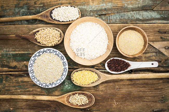 Cereal mix: red rice- barley- amaranth- quinoa- rice- bulgur and buckwheat