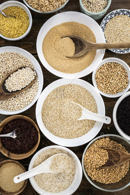 Cereal mix: red rice- black rice- barley- amaranth- quinoa- rice- bulgur- spelt- oats and buckwheat