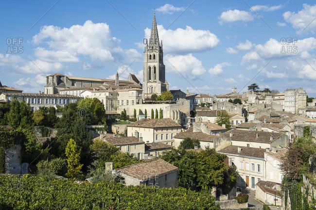 France- Saint Emilion- overlook over the Unesco world heritage sight