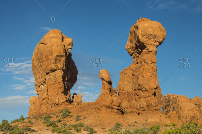 USA- Utah- Arches National Park- red sandstone formations