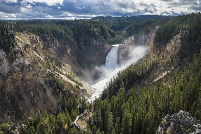 USA- Wyoming- Yellowstone National Park- Grand canyon of the Yellowstone