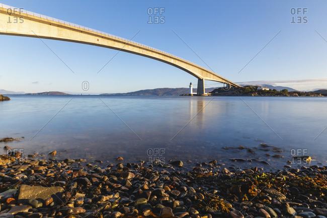 United Kingdom- Scotland- Skye Bridge view in the early morning