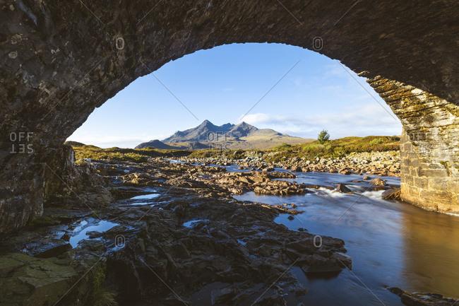 United Kingdom- Scotland- Black Cuillin mountain view from Sligachan