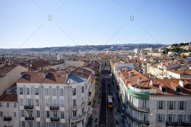 March 2, 2019: France- Nice- view to the city from above