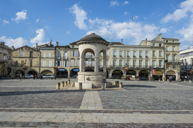 September 29, 2015: France- Lilbourn- main square- the Place Abel Surchamp