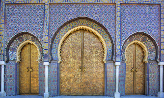 Morocco, Fez, Side gates of the Royal Palace