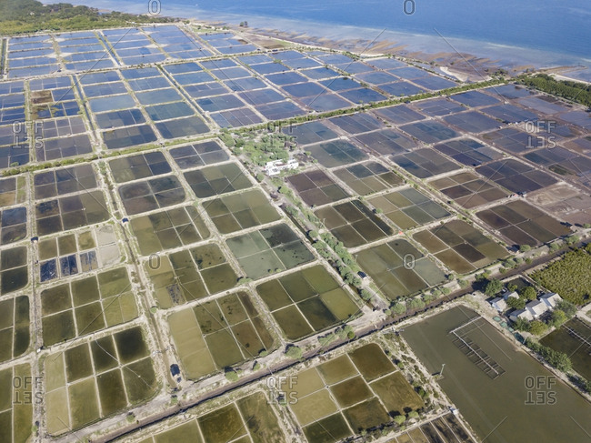 Aerial view of Salt plantations