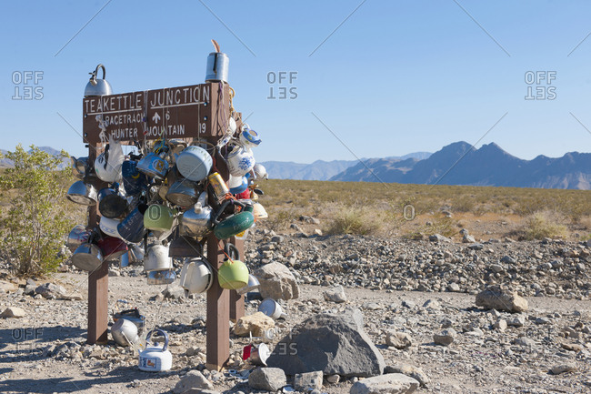 May 10, 2019: Remote Track Marker,Death Valley, California, USA