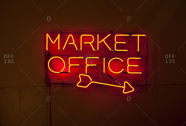 Neon Sign, Pike Place Market, Seattle, Washington