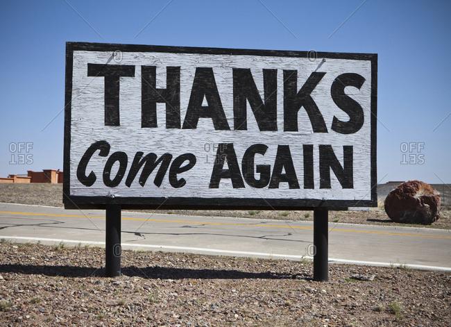 Appreciative Road Sign