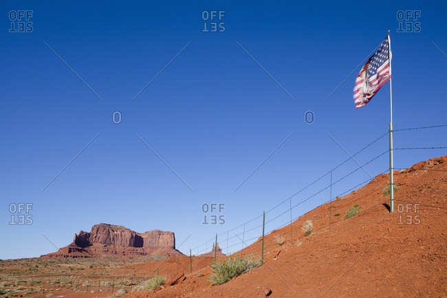 US Flag in the Desert