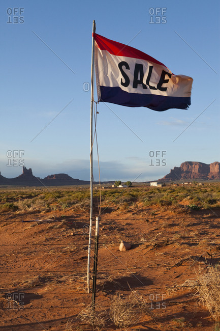 Sale Flag in the Desert