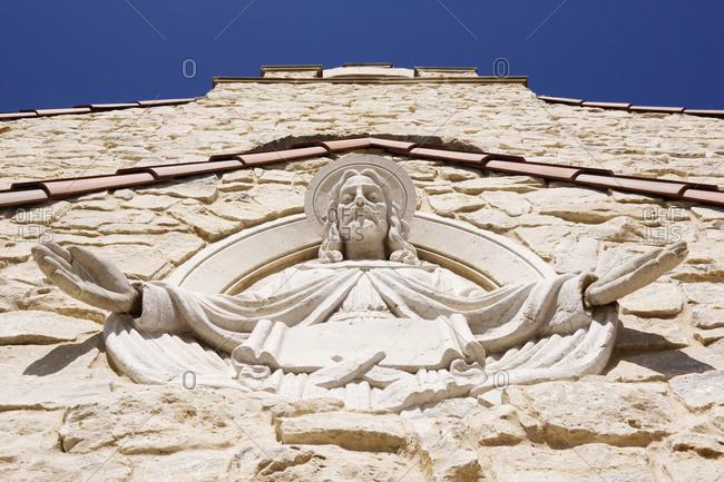Sculpture of Jesus in Chapel Exterior