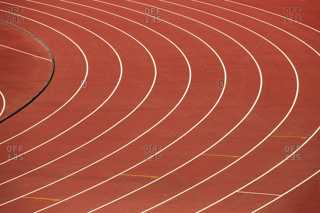 A track and field athletes in the competition
