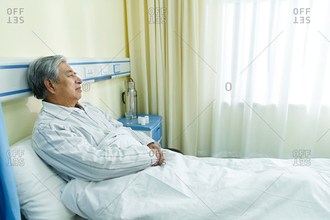 The sick old man in the ward