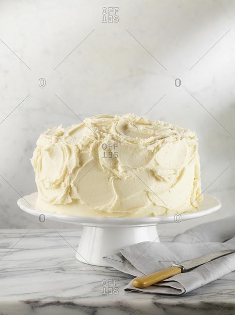 Piece of vanilla layer cake