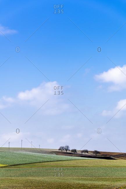 Germany- Baden-Wuerttemberg- Taubertal- fieldscape