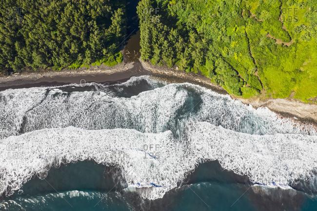 USA- Hawaii- Big Island- Pacific Ocean- Pololu Valley Lookout