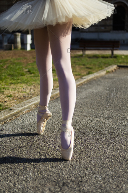Legs of a Ballerina on tiptoes