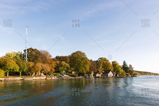 Germany- Bavaria- Lake Starnberg- near Ammerland- Fuenfseenland in autumn