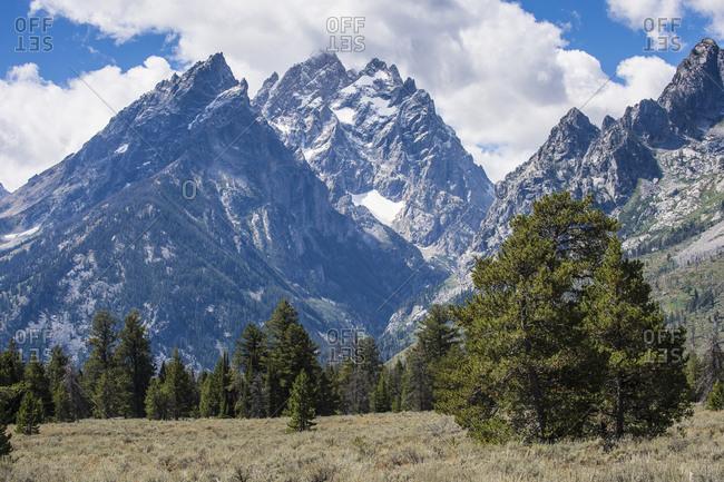 USA- Wyoming- Teton range in the Grand Teton National Park