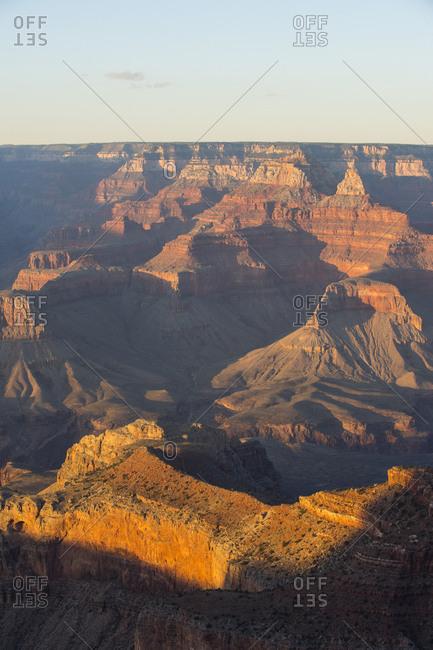 USA- Arizona- sunset over Grand Canyon