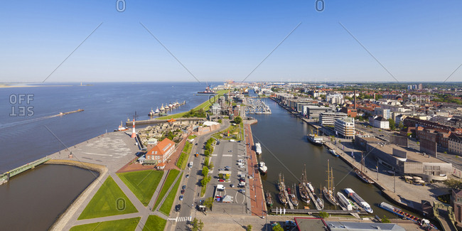 Germany- Bremen- Bremerhaven- New Harbor- Weser
