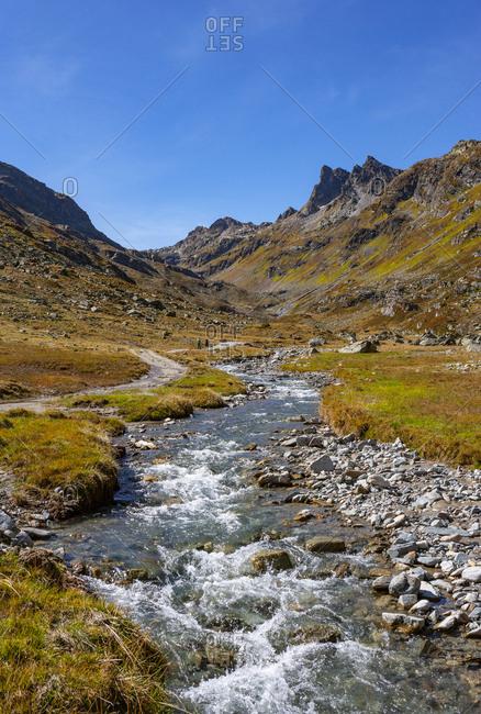 Austria- Vorarlberg- Silvretta- Klostertal- mountain stream