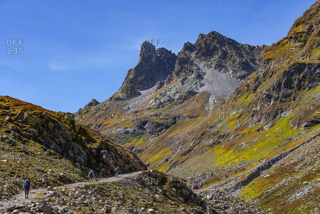 Austria- Vorarlberg- Silvretta- Klostertal- Sonntagsspitze- trail
