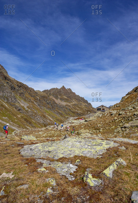 Austria- Vorarlberg- Silvretta- Klostertal- trail and mountain hut